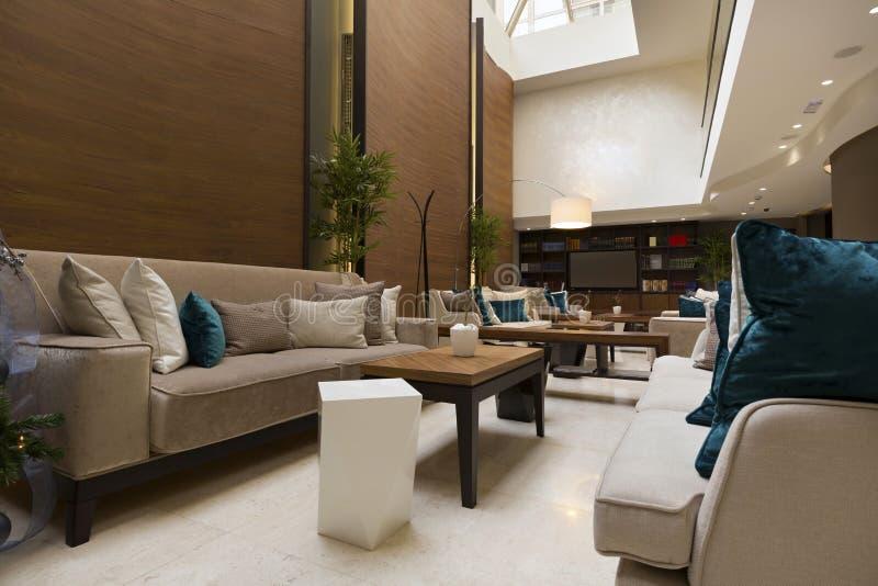 Modern de koffiebinnenland van de hotelhal royalty-vrije stock afbeelding