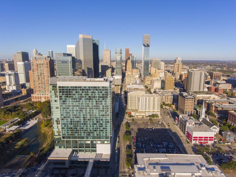 Modern de stadssatellietbeeld van Houston, Texas, de V.S. royalty-vrije stock afbeelding