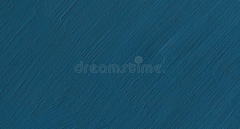 Modern Decorative Navy Blue plaster Wall Texture stock photos