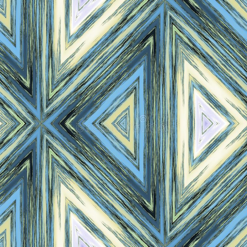 Modern decorative tile with triangle patterns in style crayon sketch. Computer generated image royalty free illustration