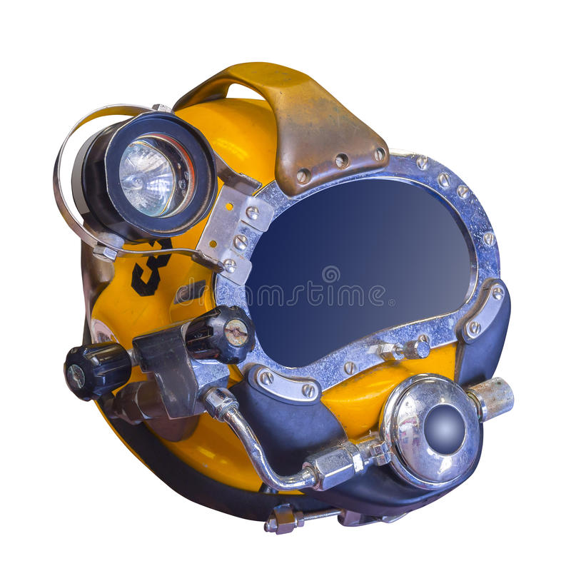 Modern Deep Sea Diving Helmet, Isolated Royalty Free Stock Photo