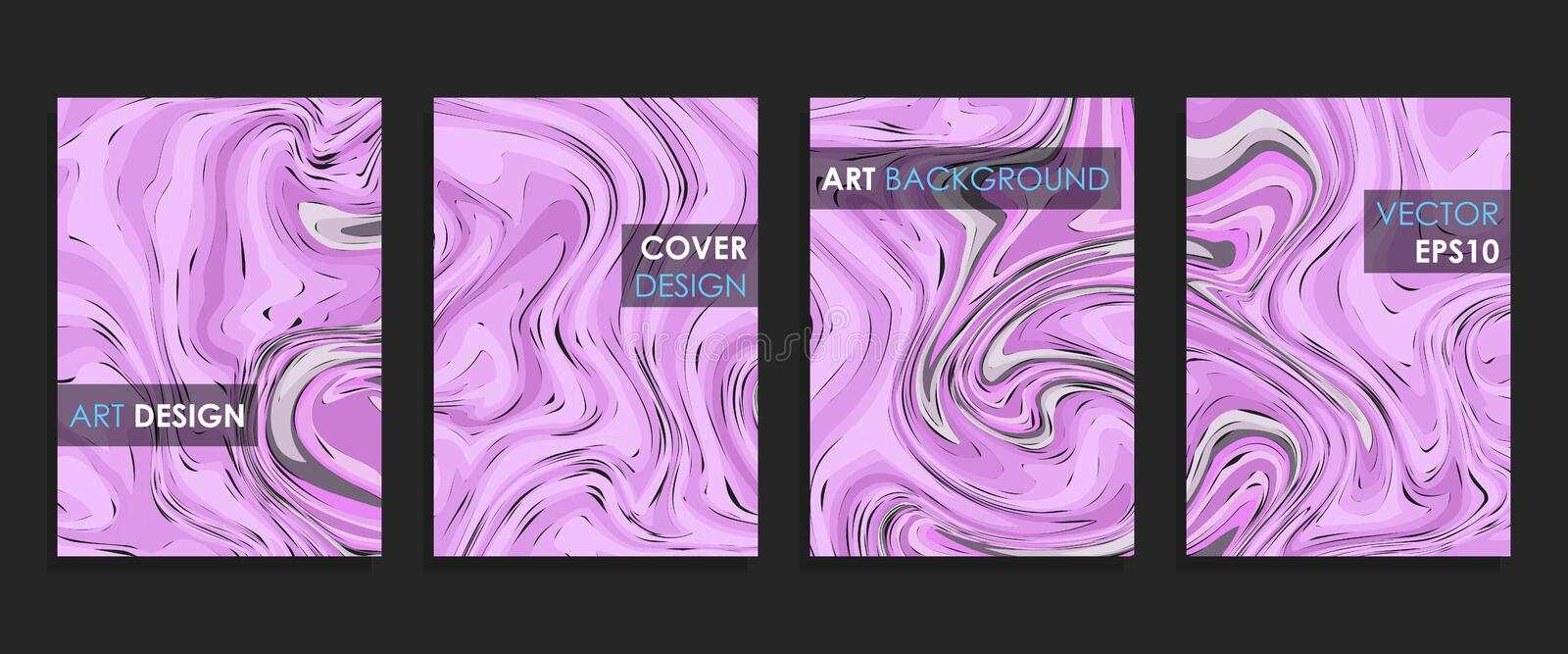 Modern design A4.Abstract marble texture of colored bright liquid paints. vector illustration