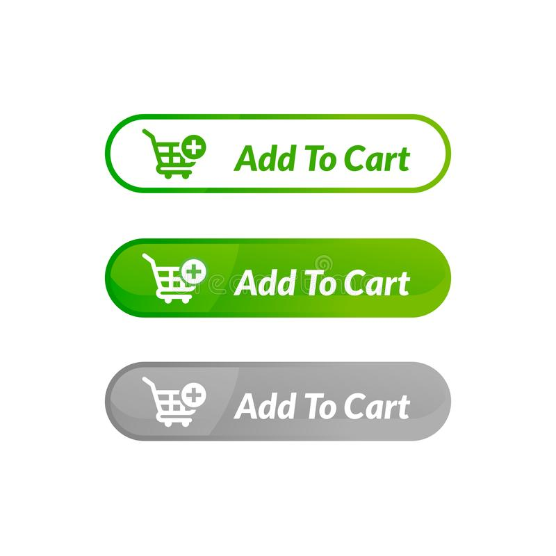 Modern design of add to cart button. online shop icon material design. Action, apps, banner, basket, business, buy, checkout, click, computer, concept, digital vector illustration