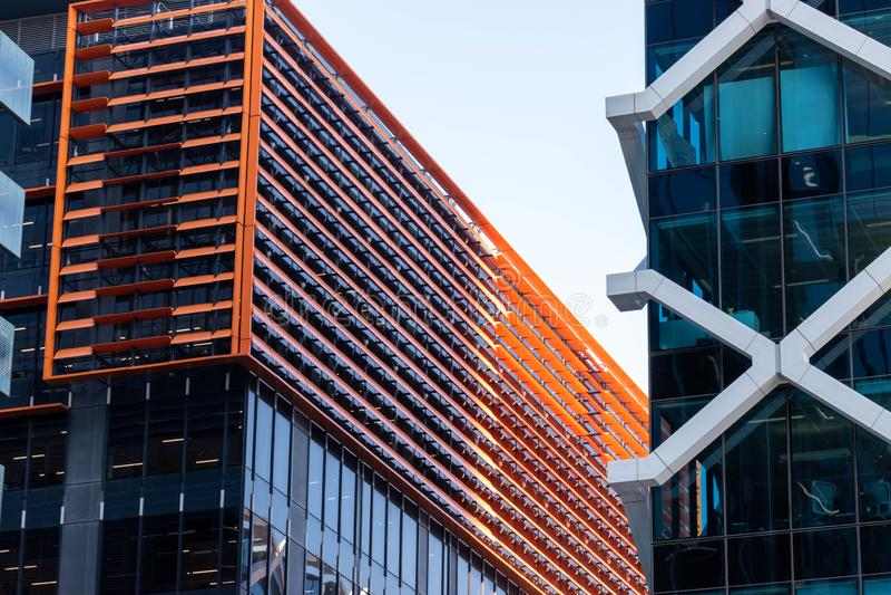 Modern design building in sydney australia royalty free stock images