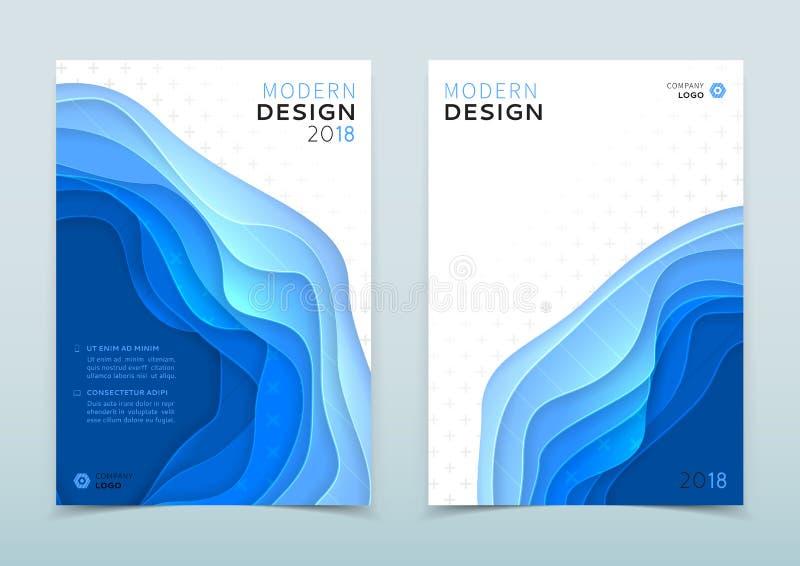 Modern design of business brochure royalty free illustration