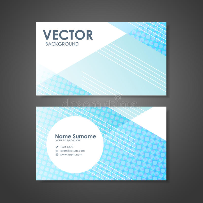 Modern Design Business Card Template Stock Vector - Illustration of ...