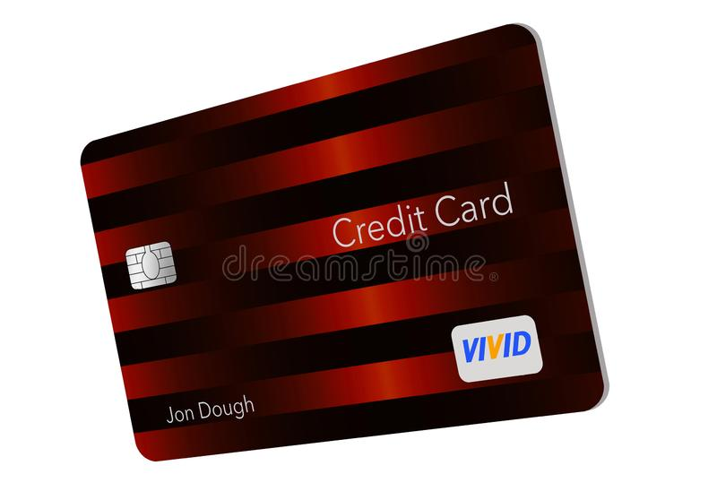 MODERN DESIGN CREDIT CARD- Here is a generic credit card with a minimal amount of graphics on the front that is the trend for mod royalty free illustration