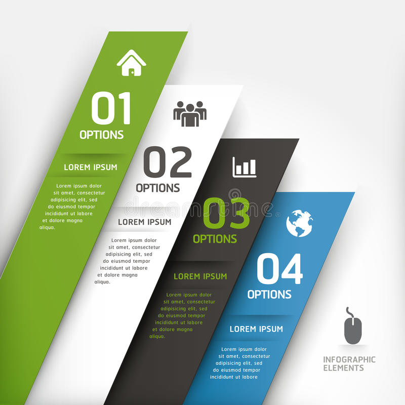 Modern design element template. royalty free illustration