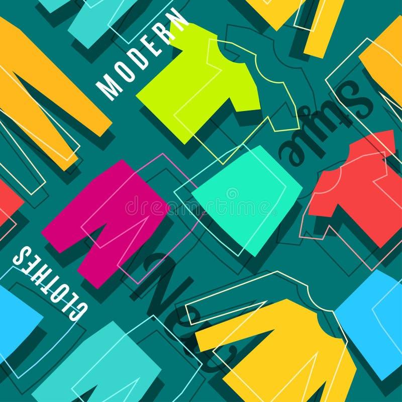 Modern design för färg för stilkläderbaner stock illustrationer