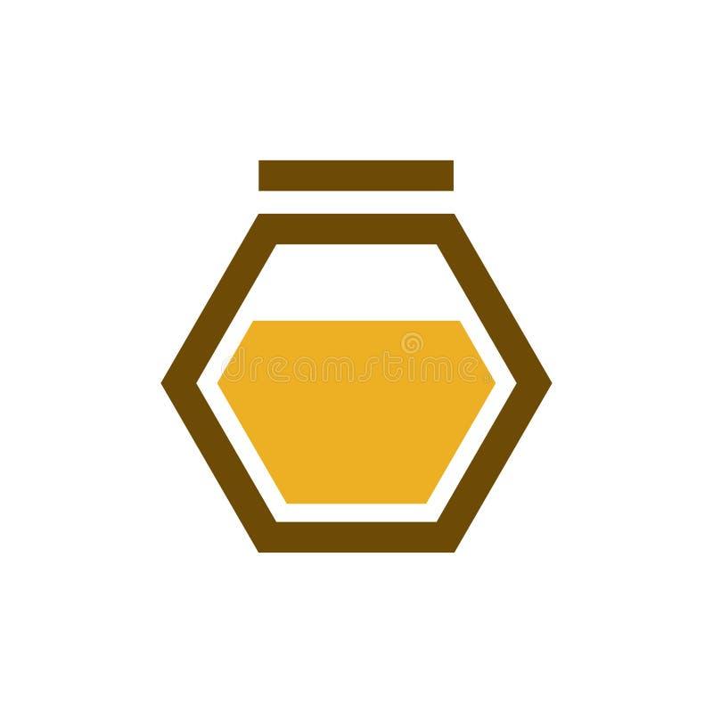 Modern design för idérik honunglogo royaltyfri illustrationer