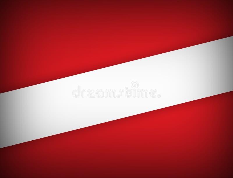 Modern design för röd och vit bakgrund för färg geometrisk abstrakt med illustrationen för kopieringsutrymmevektor stock illustrationer