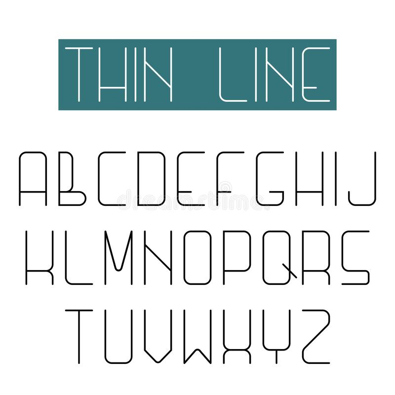 Modern design font, alphabet of thin line letter, high web collection. Modern design font, alphabet of thin line letter high web collection vector illustration
