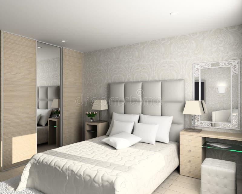 Modern design of interior royalty free illustration