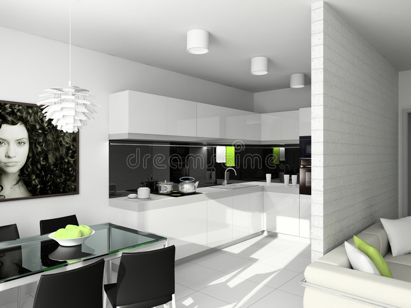 Download Modern design of interior stock photo. Image of kitchen - 4067790