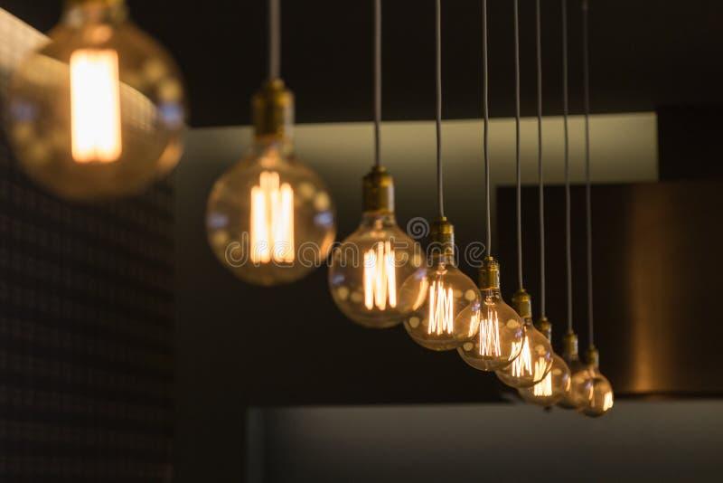 Modern Design Light Bulbs in Row royalty free stock photo
