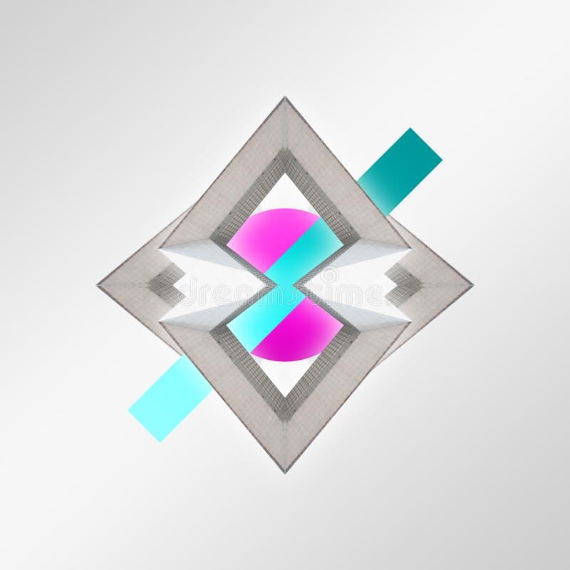 modern design Samtida konstcollage vektor illustrationer