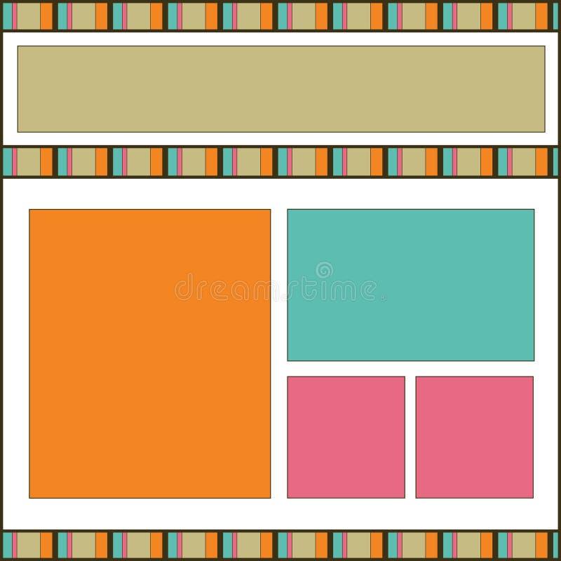 Download Modern Design Scrapbook Page Stock Illustration - Image: 9893484