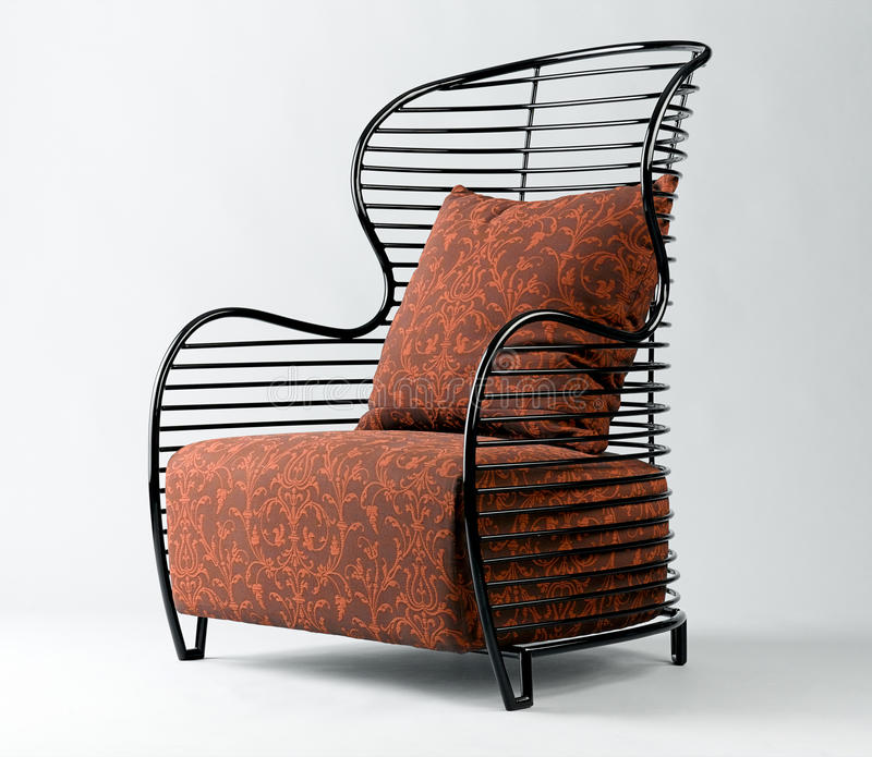 Modern design steel armchair. Modern design of steel armchair for your modern home style an image isolated royalty free stock photography