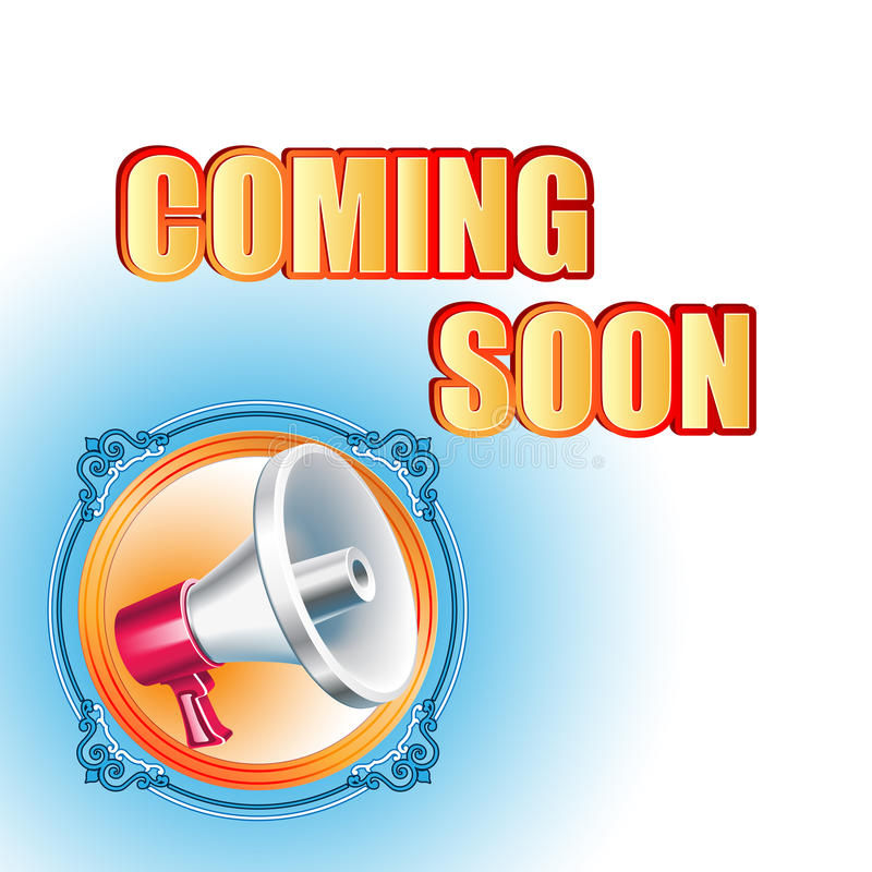 Modern design template for Coming Soon sign vector illustration