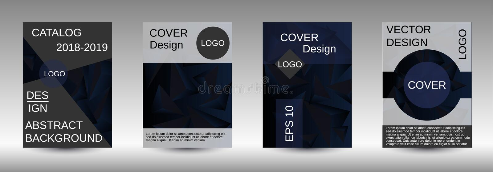 A set of modern abstract covers. royalty free illustration