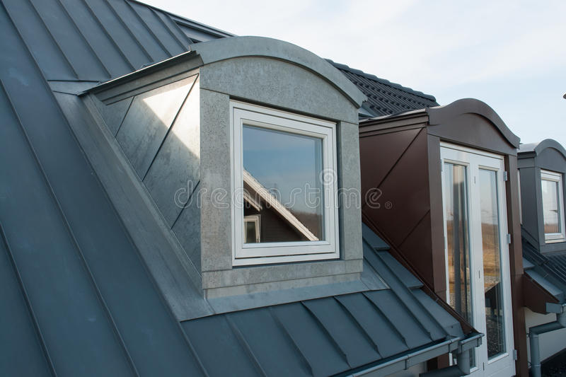 Modern Vertical Roof Windows Stock Image Image Of