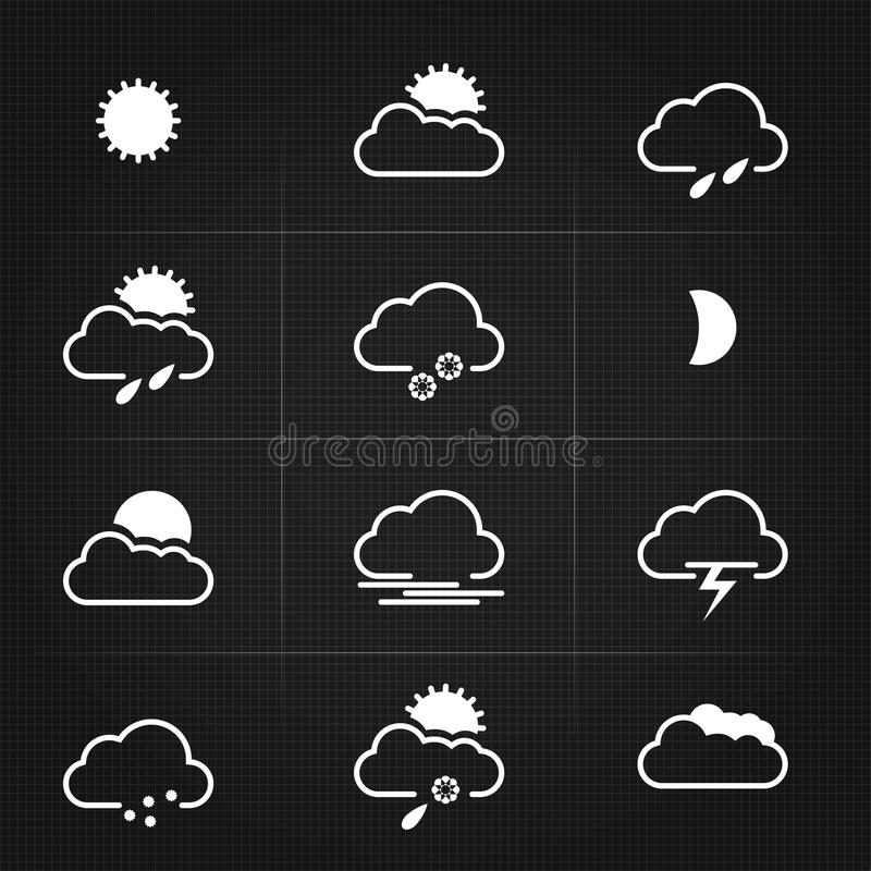 Download Modern Clean Weather Symbols Stock Vector - Illustration: 29998908