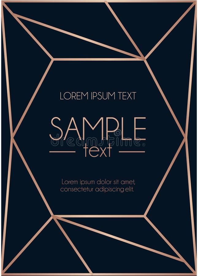 Geometric rose gold design template with abstract lines stock vector download geometric rose gold design template with abstract lines stock vector illustration of 1920s stopboris Choice Image