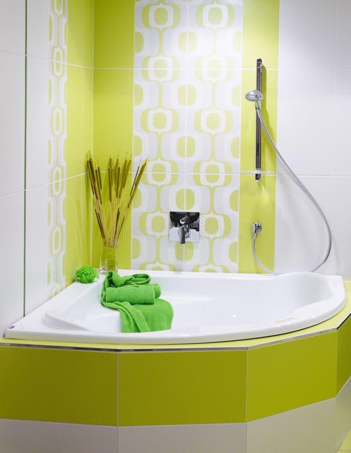 Download Modern designer bathroom stock photo. Image of colorful - 13738338