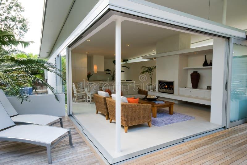 Modern, designer home stock photography