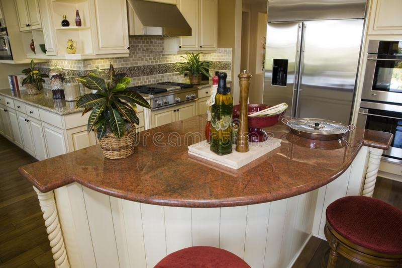 Modern designer kitchen stock image