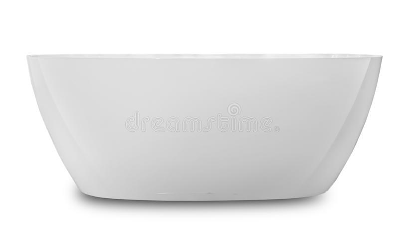 Modern detached bathroom made of artificial stone royalty free stock photos