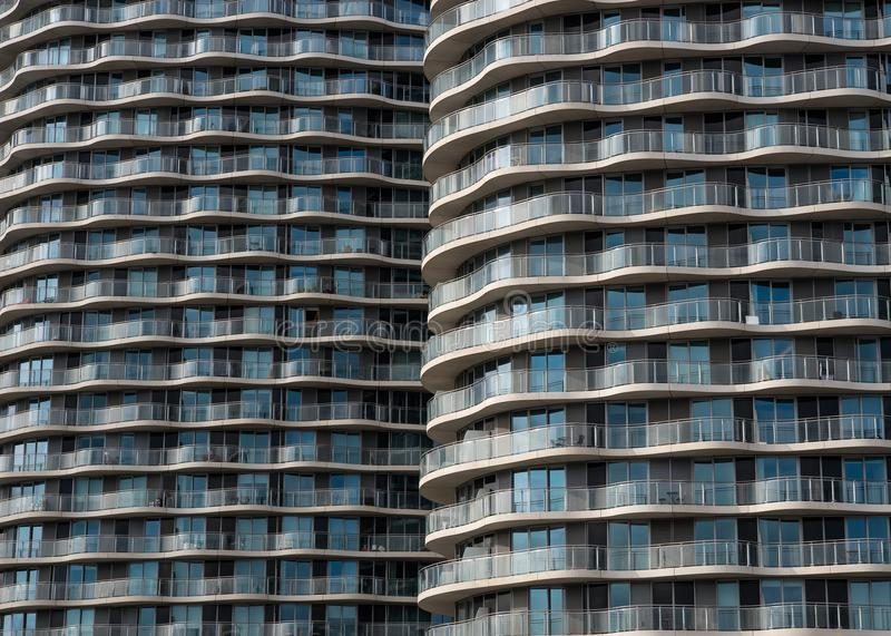 Download Modern Apartment Building Glass Facade With Lines Of Balconies  Stock Photo   Image Of Neighbors