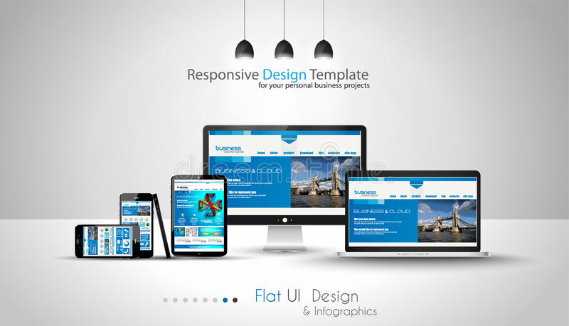 Modern devices mockups fpr your business projects. vector illustration