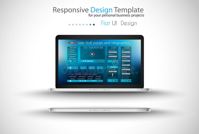Modern devices mockups fpr your business projects vector illustration