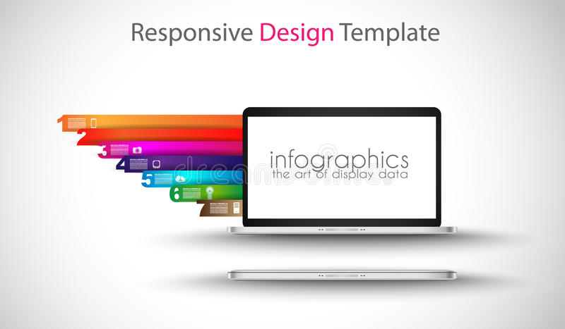 Modern devices mockups fpr your business projects. Webtemplates included royalty free illustration