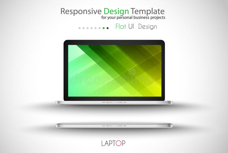 Modern devices mockups fpr your business projects royalty free illustration