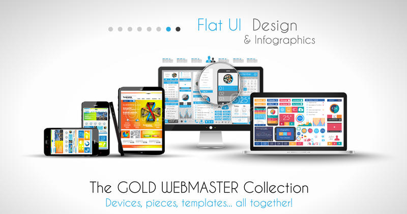 Modern devices mockups fpr your business. Projects. webtemplates included vector illustration