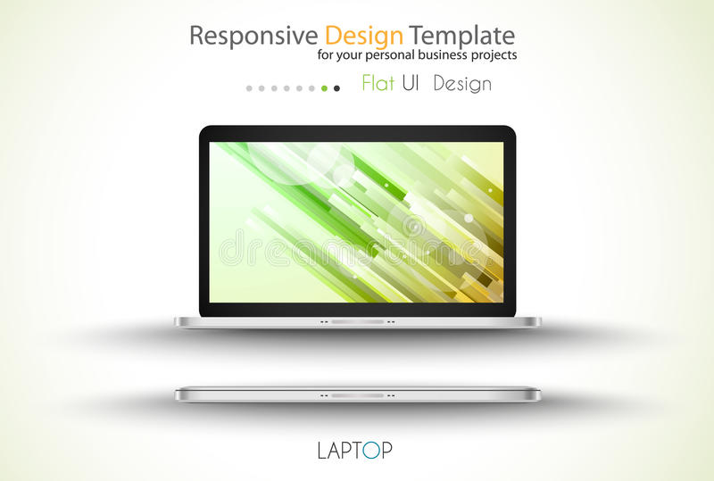 Modern devices mockups for your business projects. stock illustration