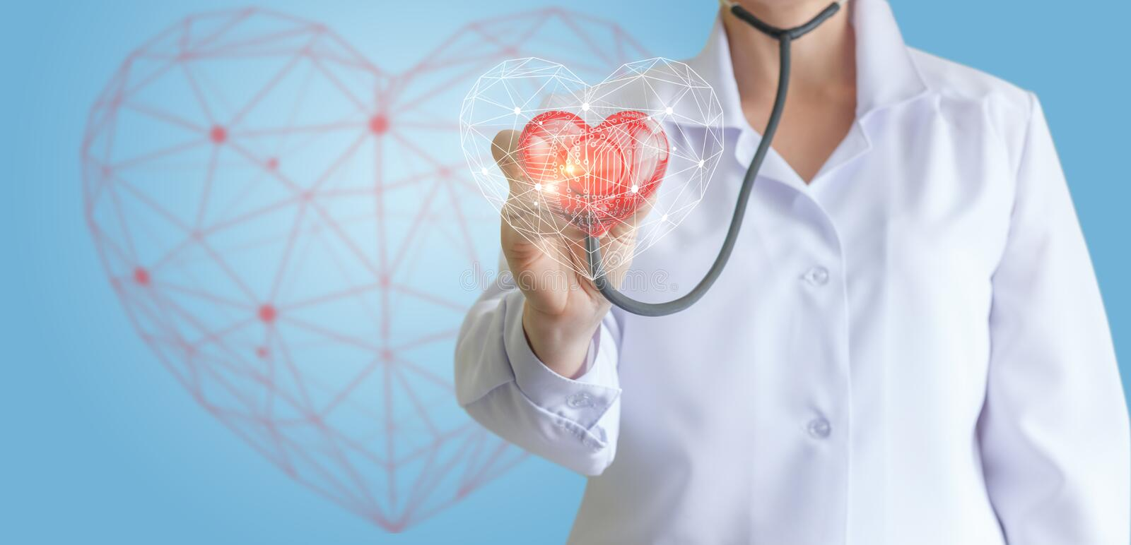 Modern of diagnostics of the heart. Modern of diagnostics of the heart concept design stock images