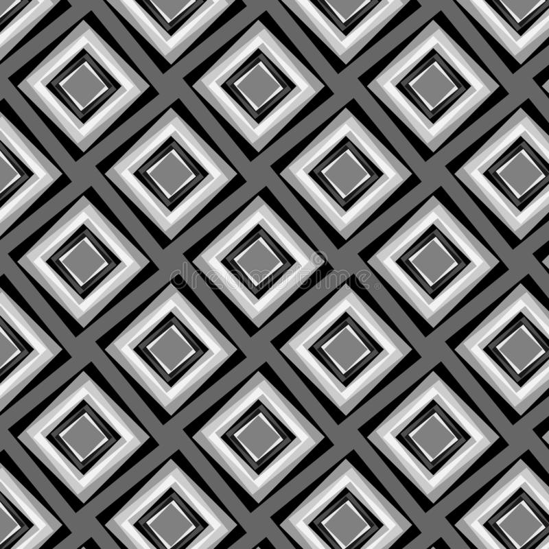 Modern diamonds repeating pattern in grey scale royalty free illustration