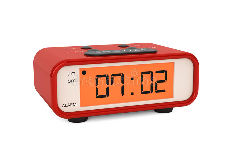 Modern Digital Alarm Clock royalty free stock images