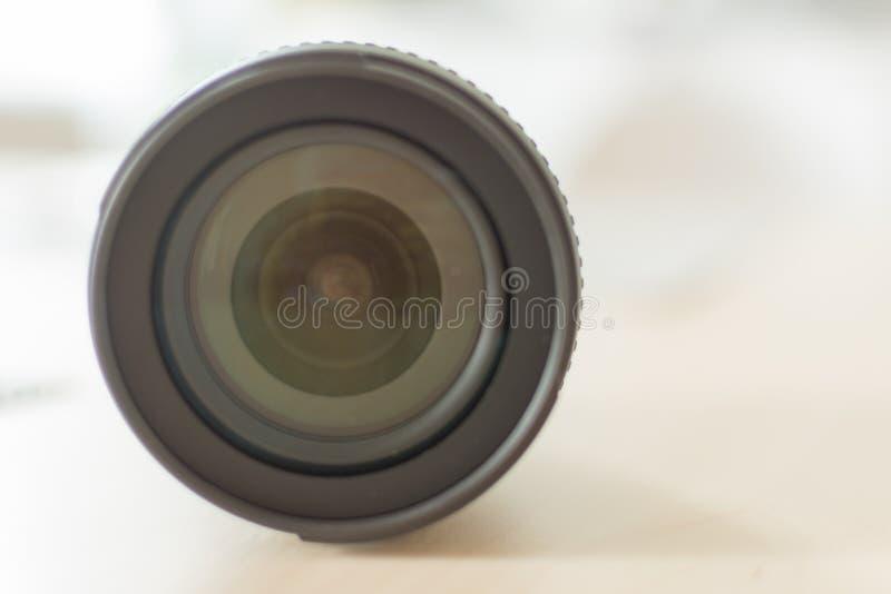 Modern digital camera lense closeup royalty free stock images