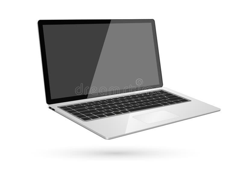 Modern digital dator royaltyfri illustrationer