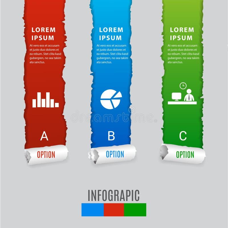 Modern digital infographics för mallvektorbaner royaltyfri illustrationer