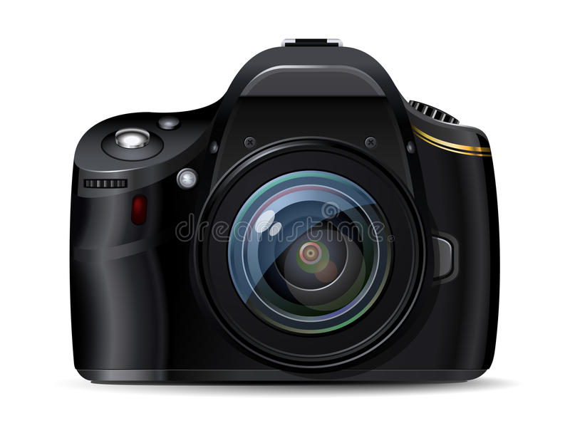 Download Modern Digital Reflex Camera Stock Vector - Image: 19015552