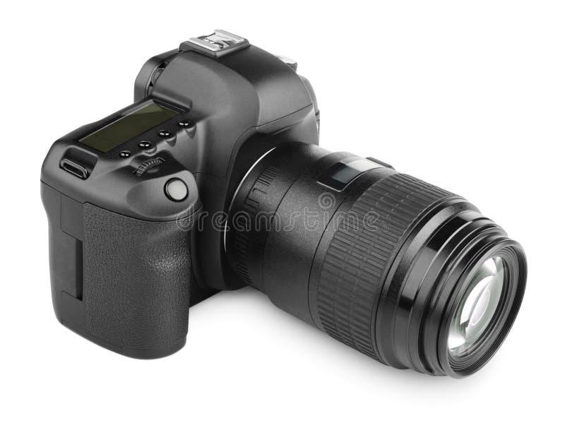 Modern digital SLR camera stock photos