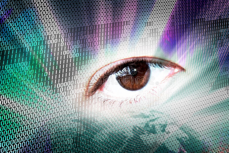 Modern Digital Vision royalty free illustration