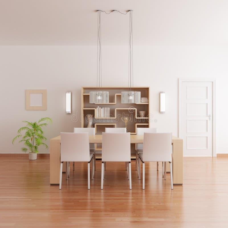 Modern dining room vector illustration