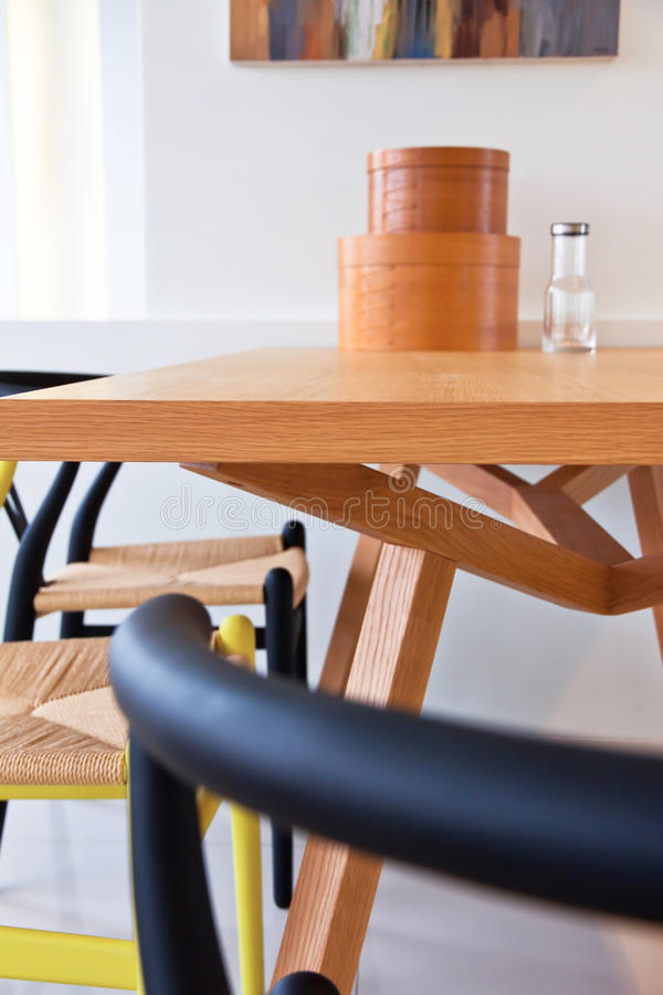 Modern dining room stock photo