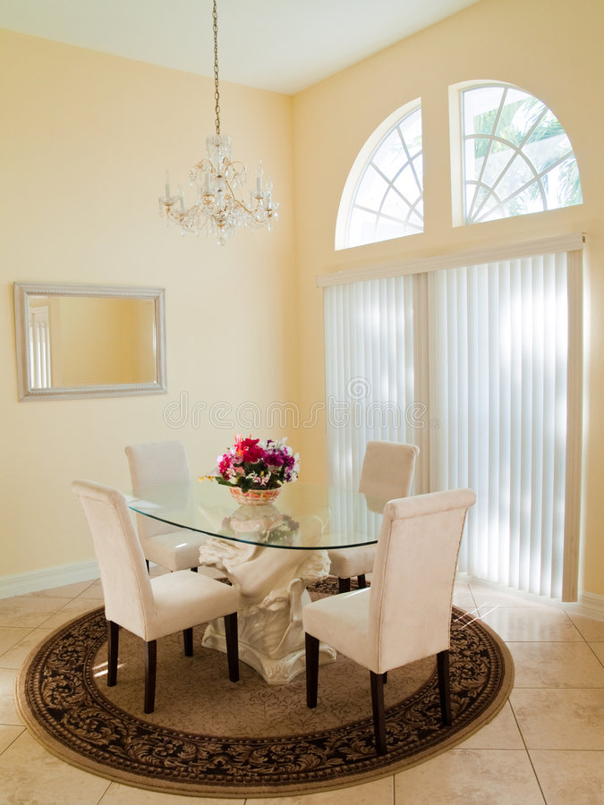 Download Modern Dining Room stock photo. Image of round, arched - 8952752